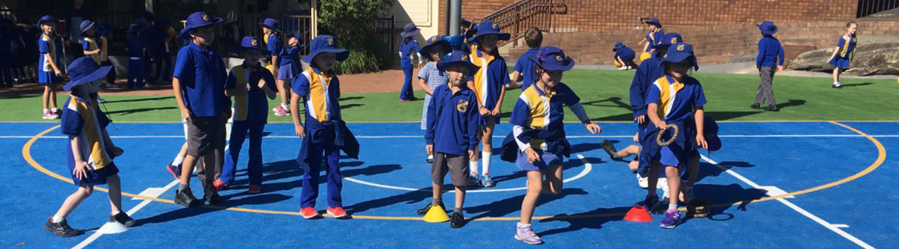Oatley Public School students in the playground